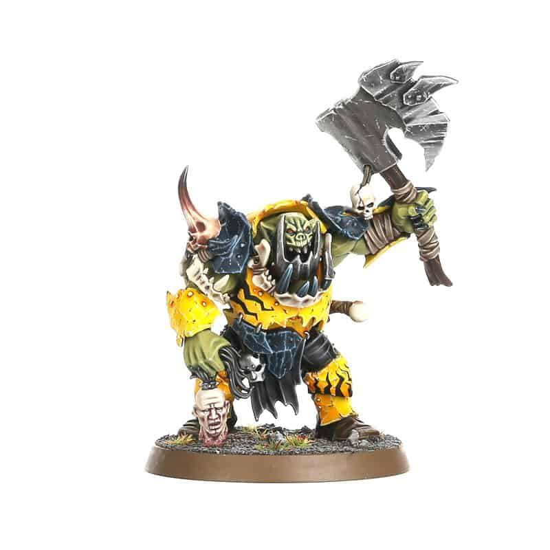 A Brute Boss with Boss Choppa for the Ironjawz Warcry Warband