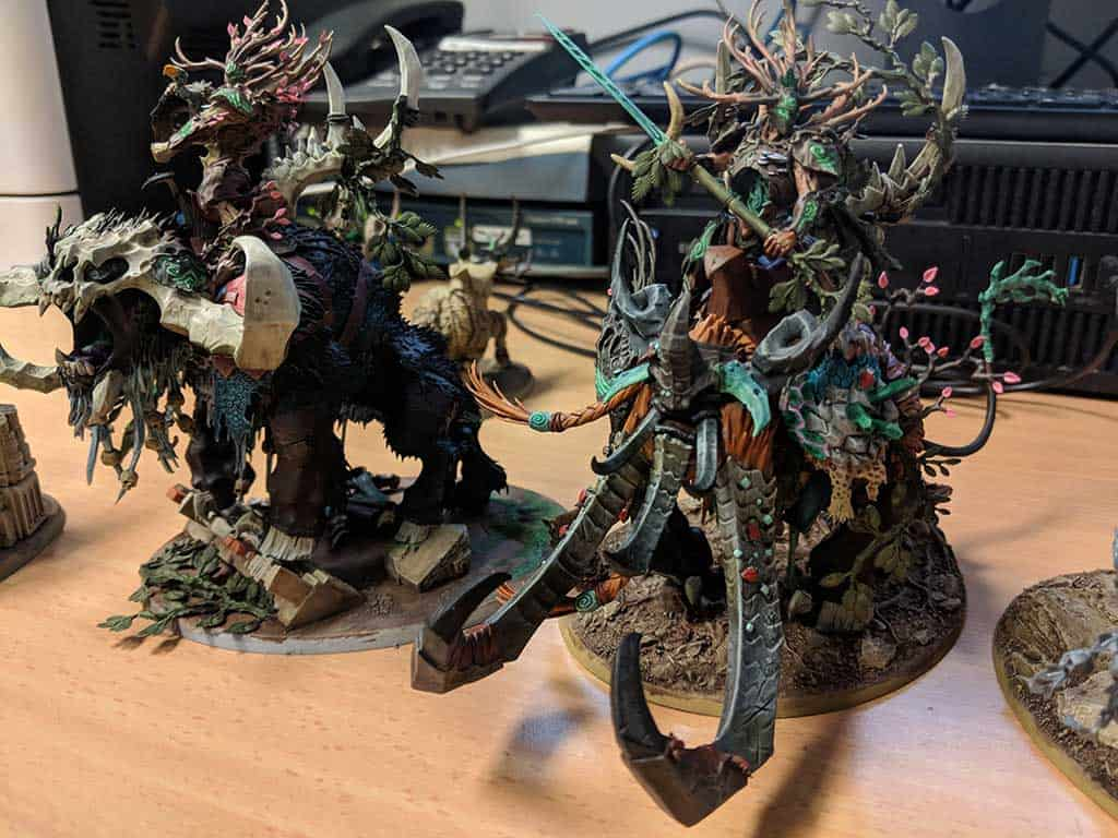 Some converted Sylvaneth and Beastclaw Raiders for Age of Sigmar