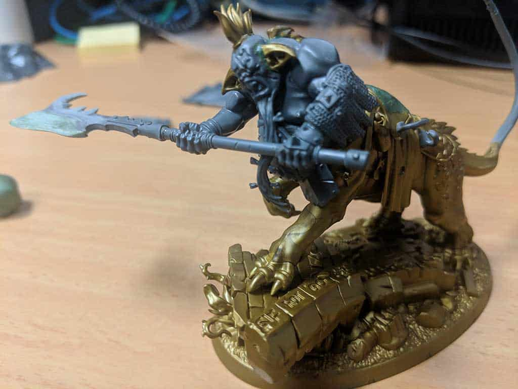 A converted Dragon Ogre for Age of Sigmar