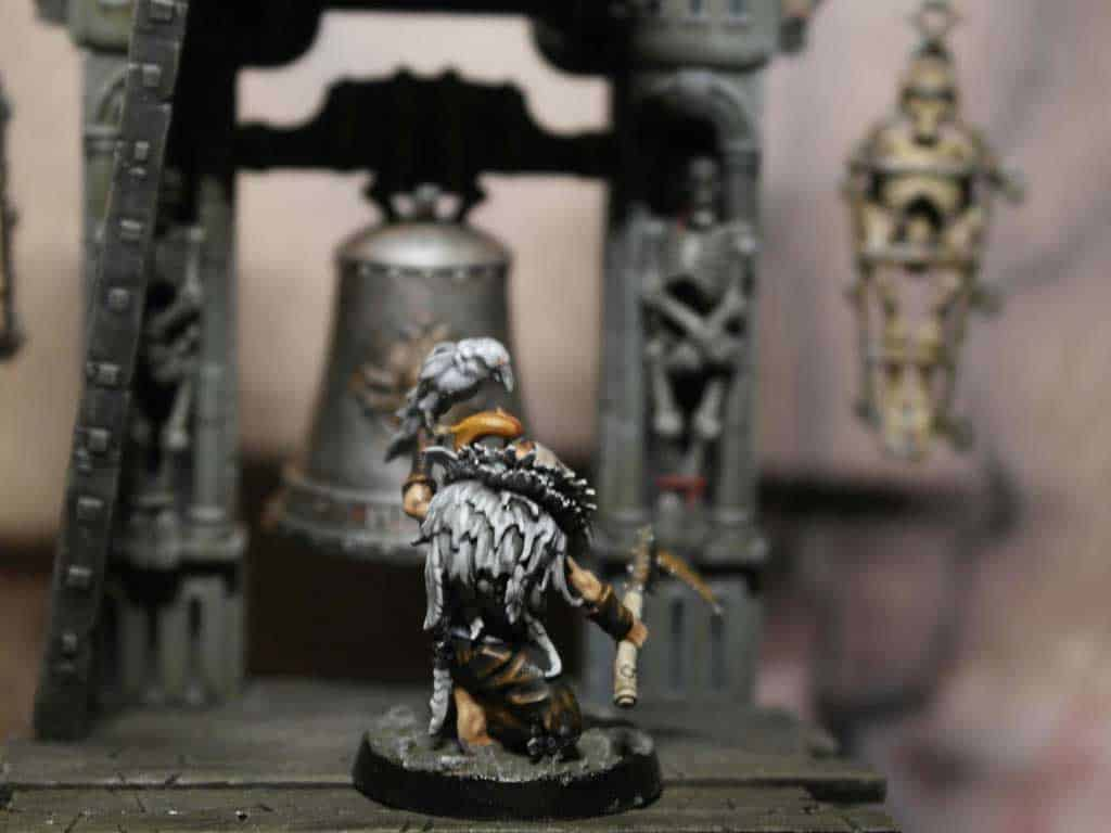 My white and blue painting scheme for the Corvus Cabal Warband in Warcry