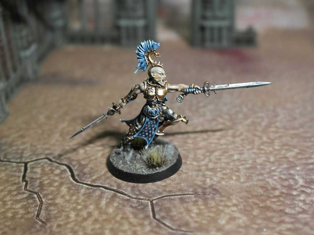 My blue painting scheme for the Splintered Fang Warcry Warband (blue scheme)