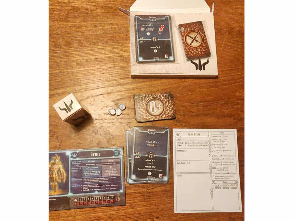 Exactly what you need for each fighter when you start a Gloomhaven Campaign