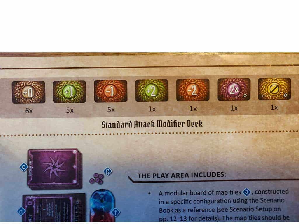 The standard ability deck when you start a Gloomhaven Character