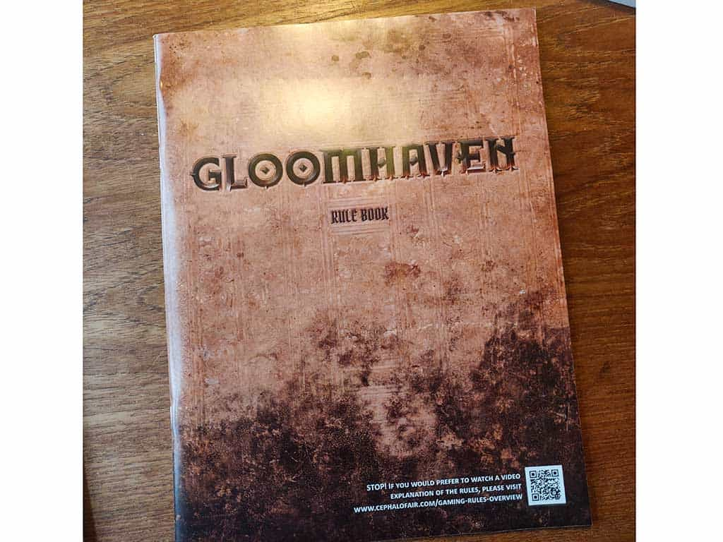 The rulebook for Gloomhaven