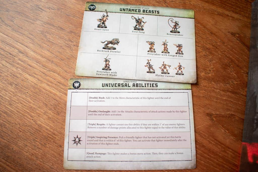Example of ability card in Warcry