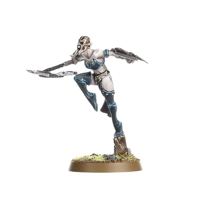 Sister of Slaughter with Barbed whip and bladed buckler for the Daughters of Khaine Warband in Warcry