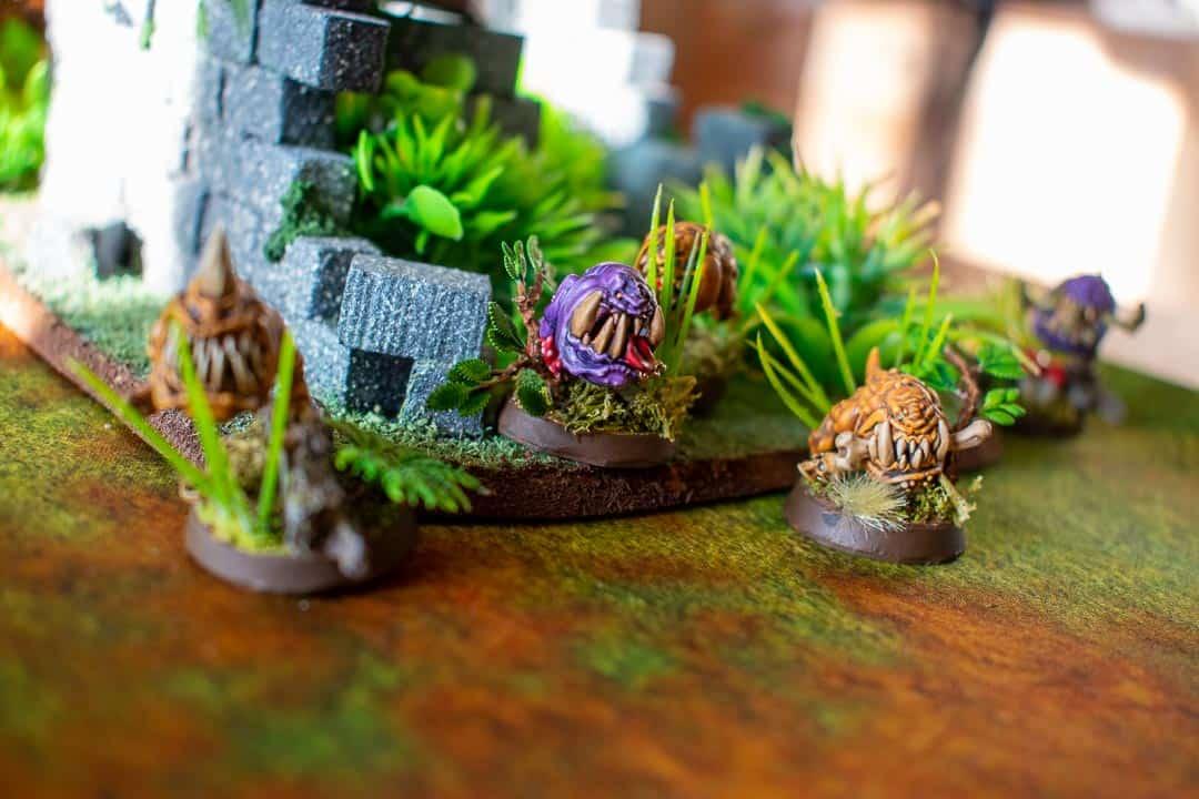 Some Gloomspite Gitz squig in jungle terrain