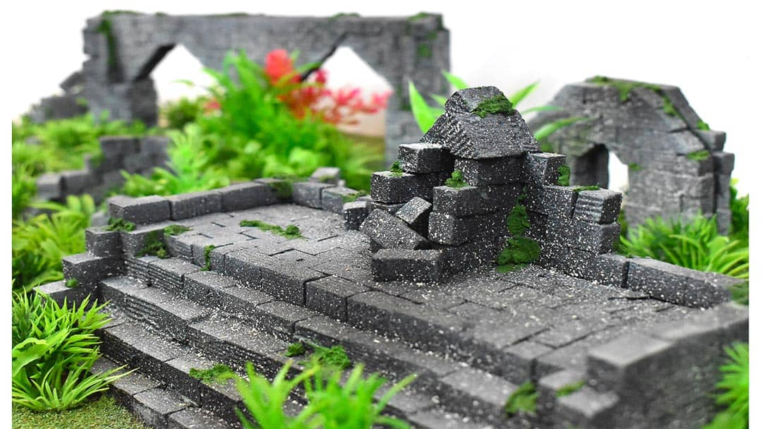 This is the the stairs of the commission jungle terrain from Go to Ground Wargaming