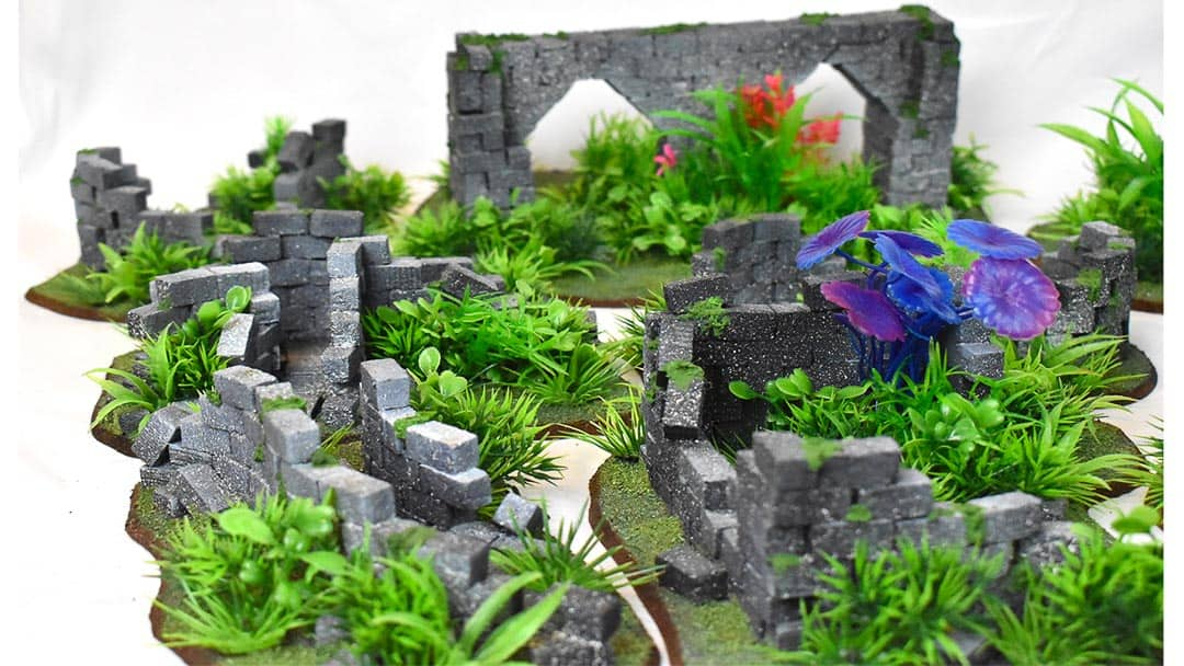 This is the commission jungle terrain from Go to Ground Wargaming