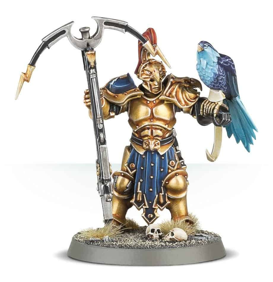 A Raptor-Prime with Longstrike Crossbow for the Stormcast Vanguard Warband in Warcry