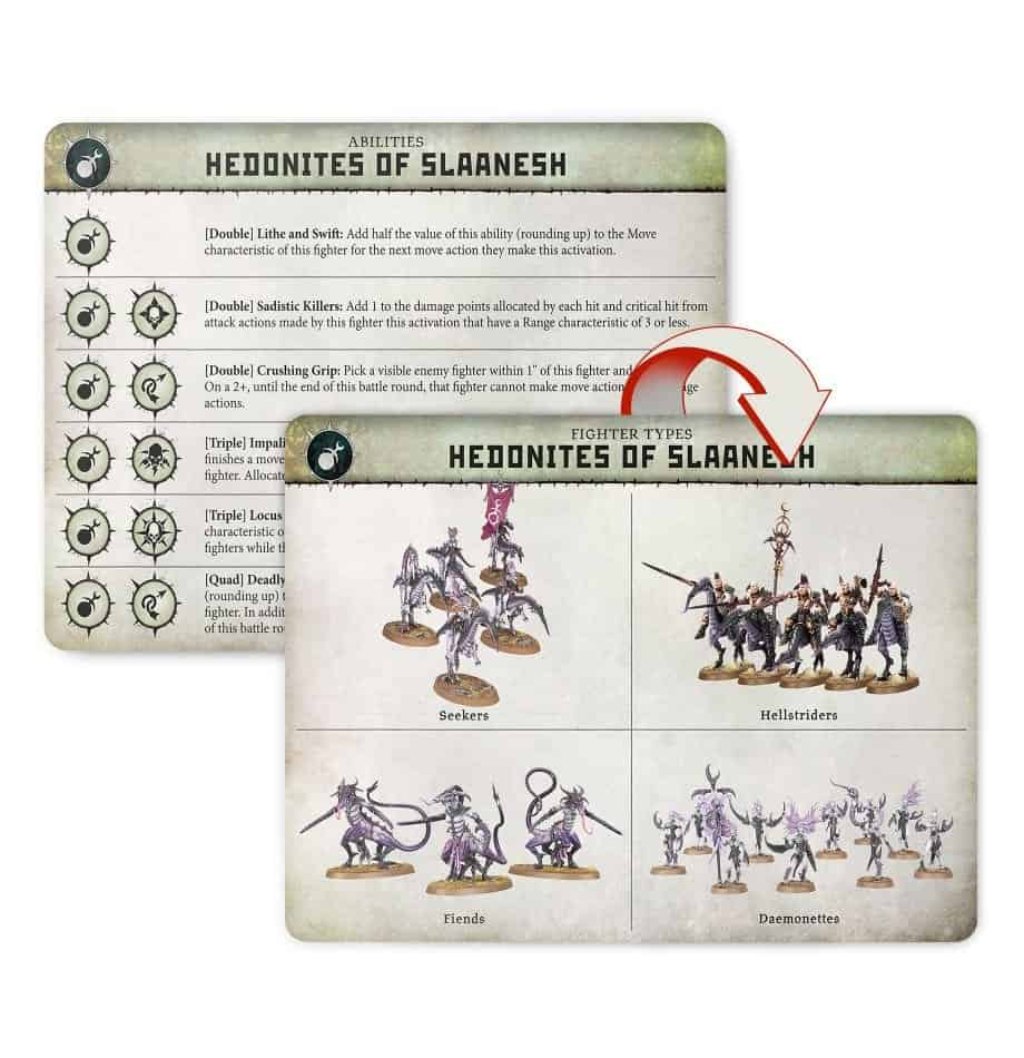 Fighters in the Hedonites of Slaanesh in Warcry