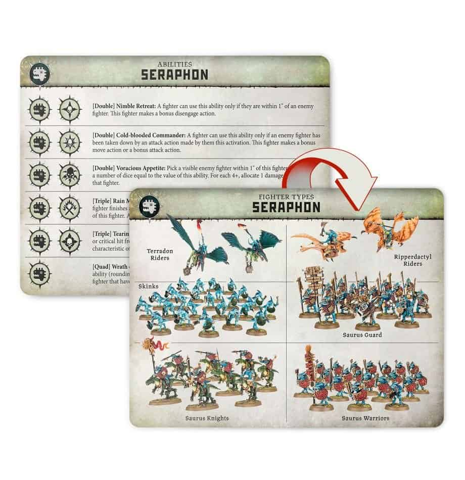 Fighters in the Seraphon in Warcry