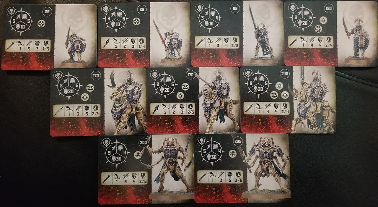 Fighter Cards the Bonereapers in Warcry