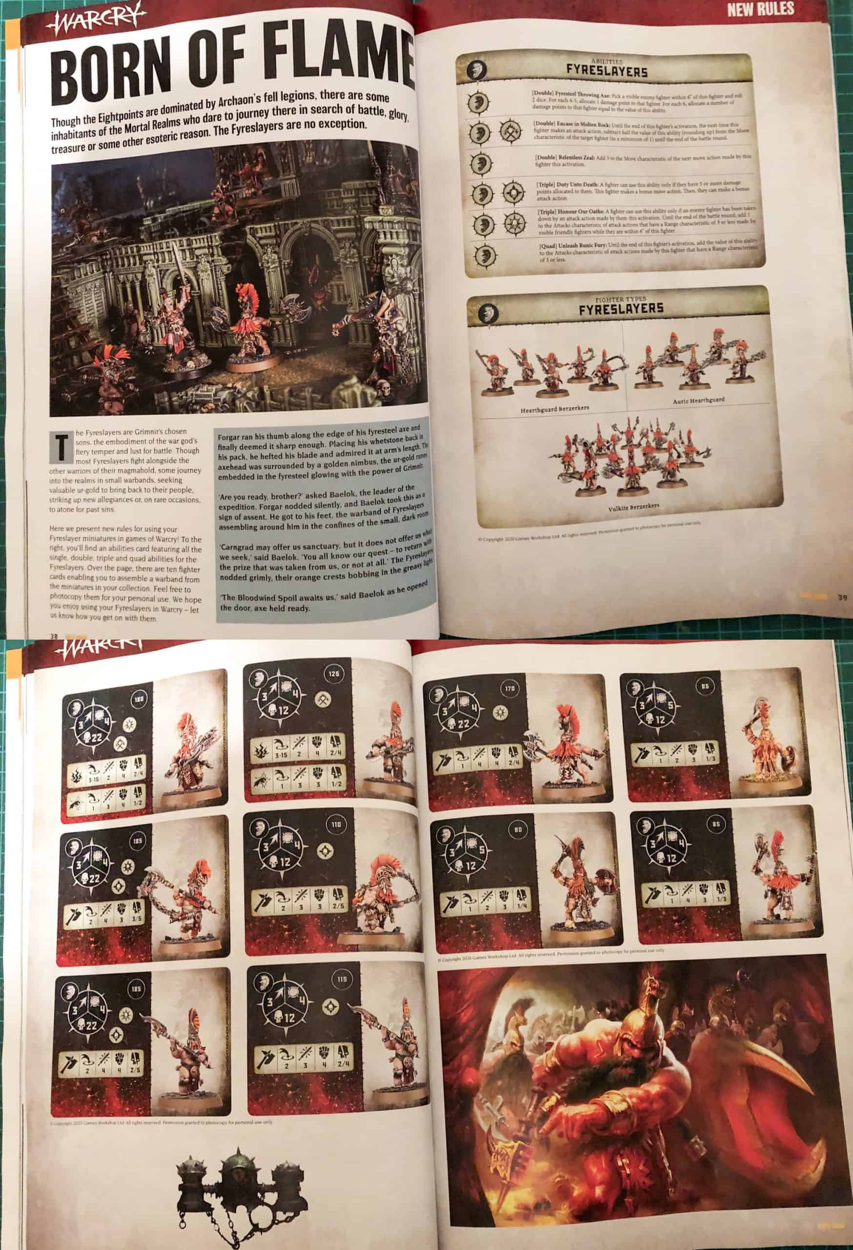 All rules for Fyreslayers in Warcry