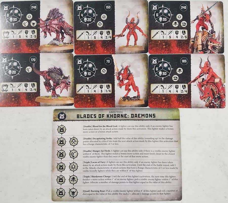 Fighter Cards and Ability cards for the Ogor Mawtribes