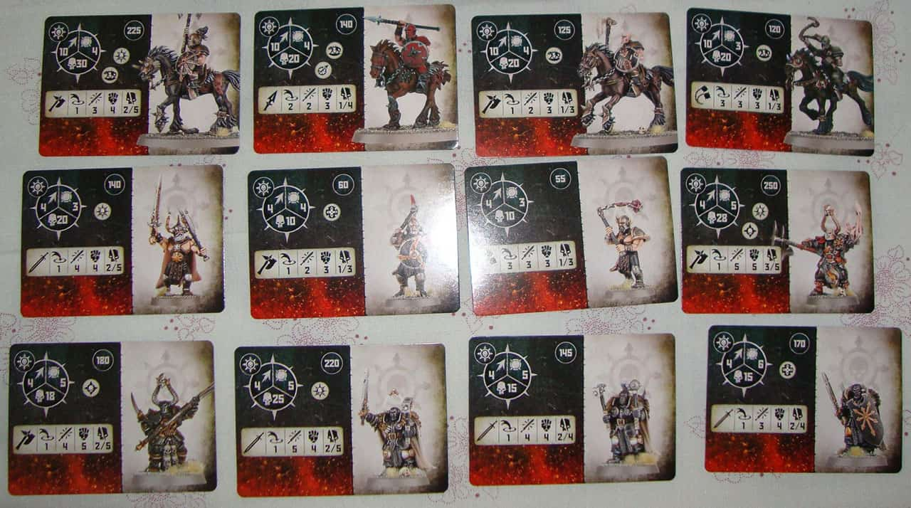 All the Fighter Cards cards for the Slaves to Darkness in Warcry