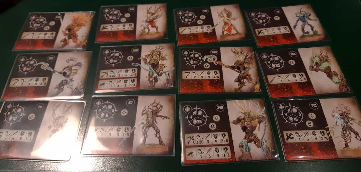 Sylvaneth Fighter Cards in Warcry