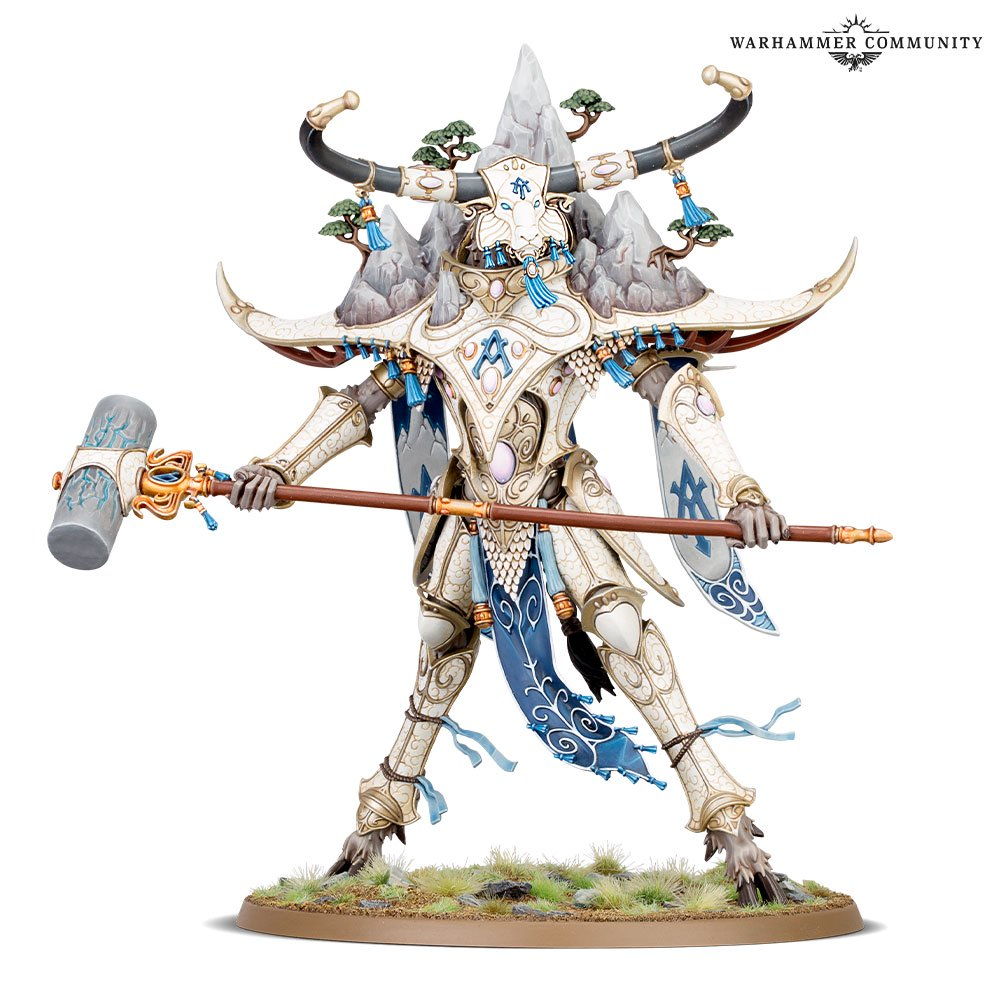 Alarith Spirit of the Mountain model for the Lumineth Realm-Lords faction