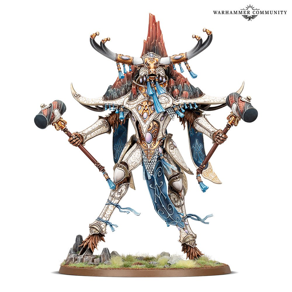 Avalenor, Stonehearth King model for the Lumineth Realm-Lords faction