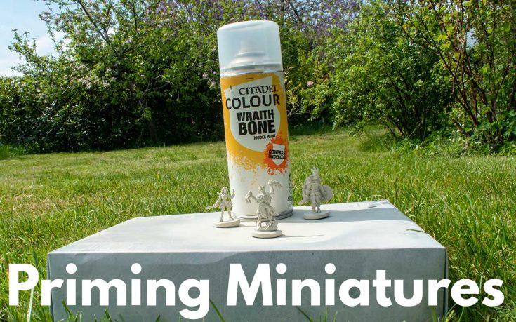 Priming Miniatures