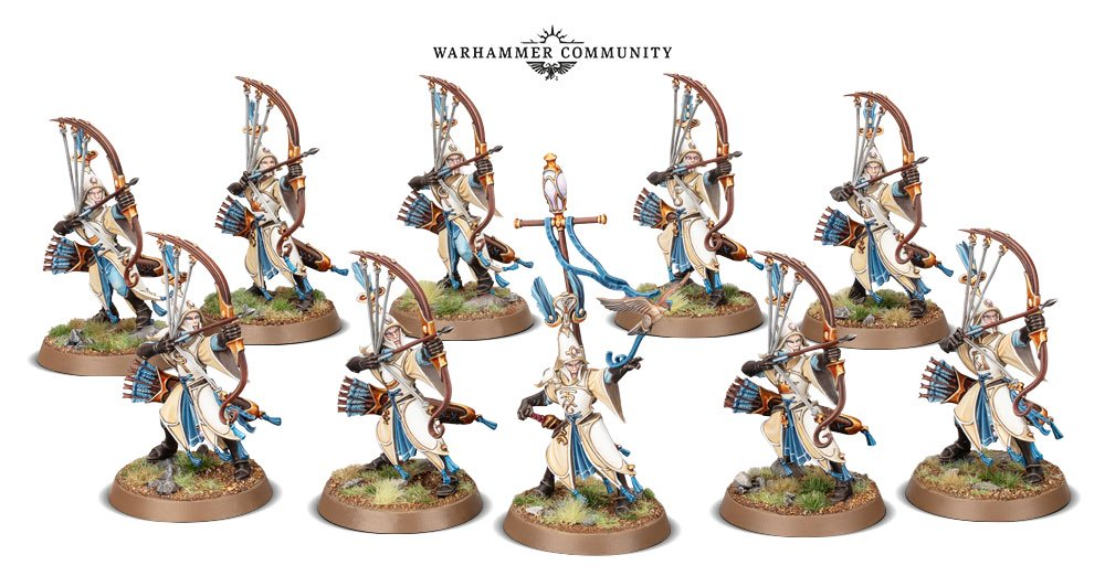 Auralan Sentinels models for the Lumineth Realm-Lords faction