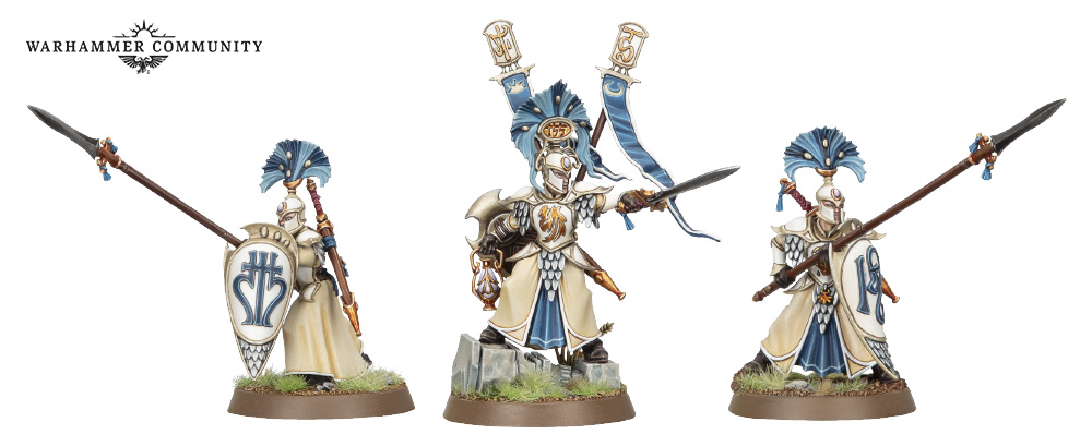 Vanari Auralan Wardens models for the Lumineth Realm-Lords faction