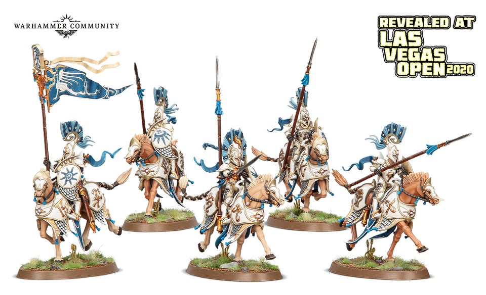 Vanari Dawnrider models for the Lumineth Realm-Lords faction