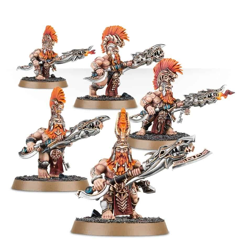 Auric Hearthguard ready to compete in your Fyreslayers Warband