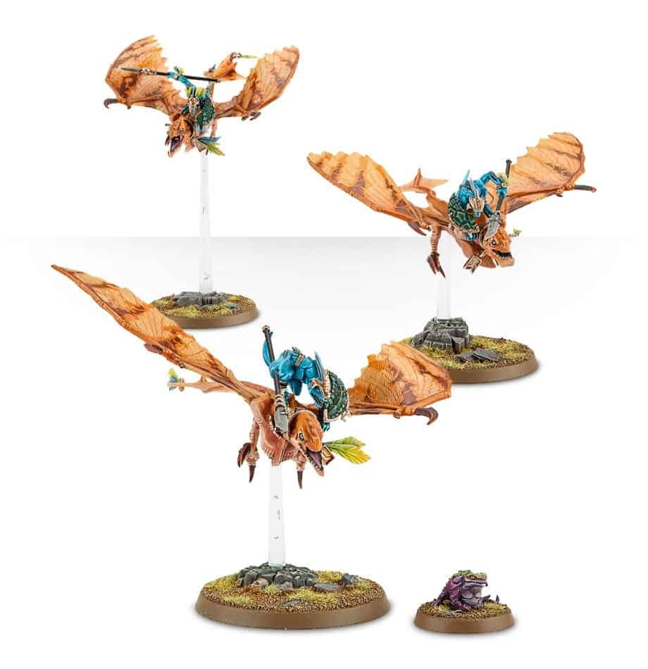 Seraphon Ripperdactyl Riders ready to strike feat into your opponent in warcry