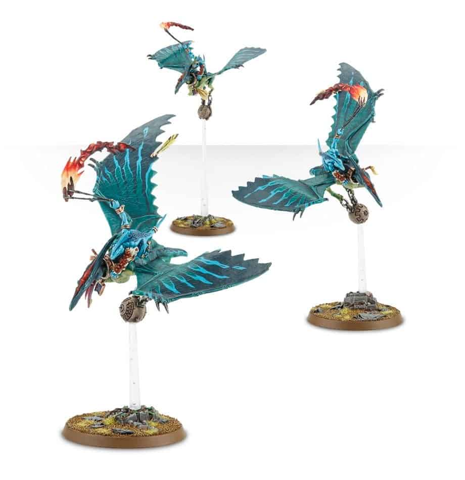 Terradon Riders for the Seraphon warband in Warcry