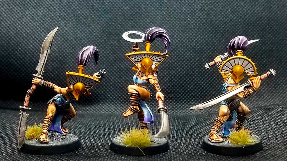 Mindbound miniatures from the Cypher Lords Warband in warcry