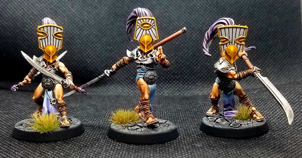 Mirror Blades miniatures from the Cypher Lords Warband