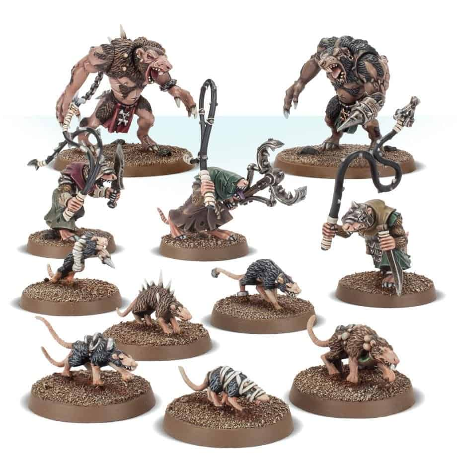 Big rat ogors and small giant rats for skaven in warcry