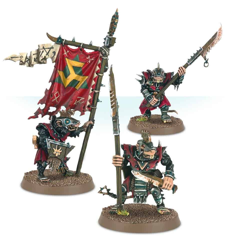 Stormvermin fighters in a skaven warcry warband