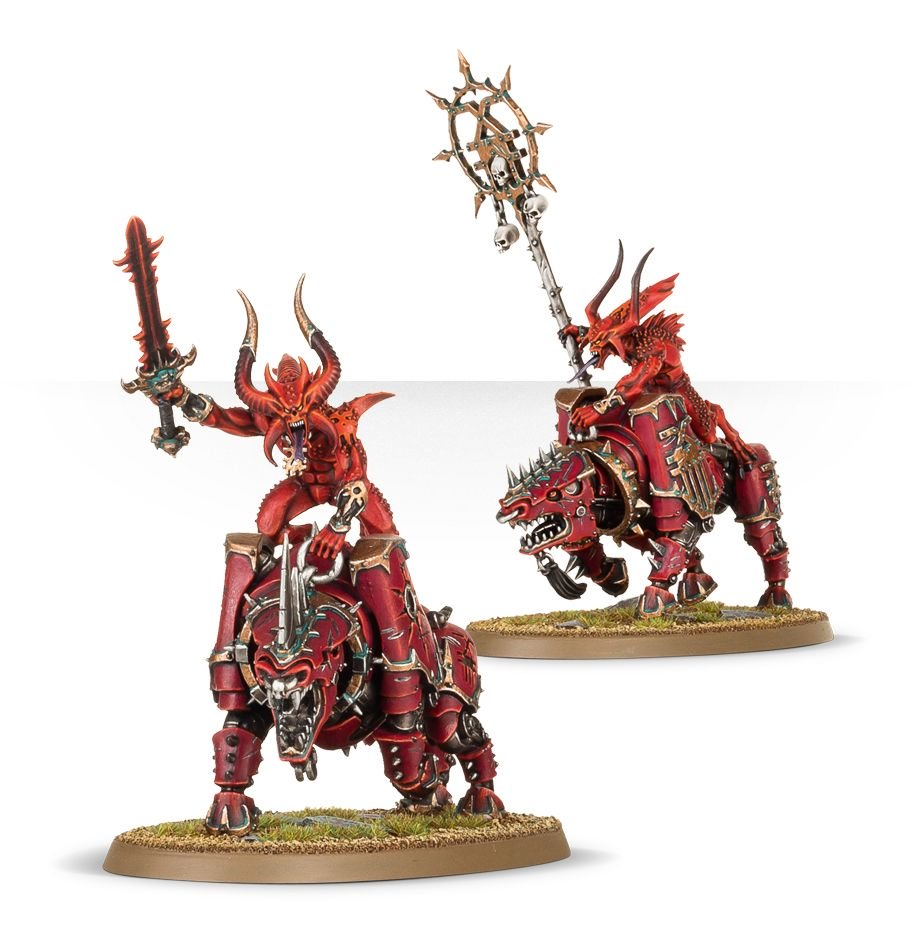 Some bloodcrushers that can be used in Warcry as part of a Daemons of Khorne Warband