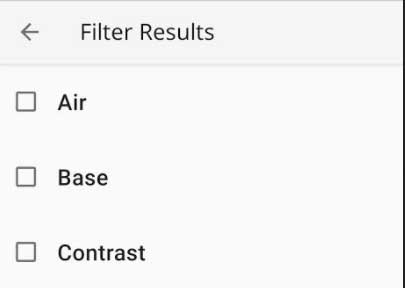 Hit Refine and filter by paint type to reduce the list to search through