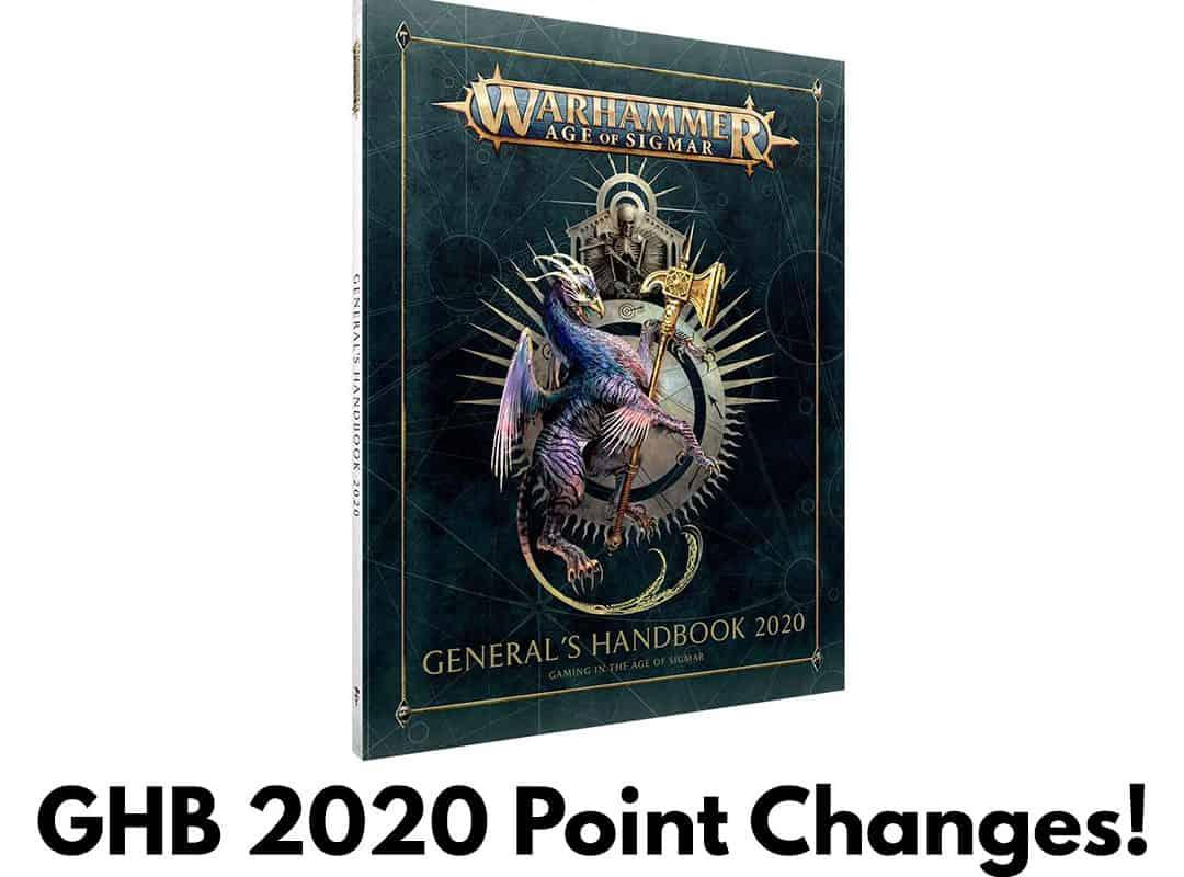 Points Changes in Generals Handbook 2020 (GHB 2020 Leaks)