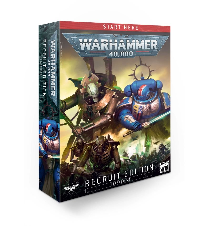 Box for the new 40k starter set the Recruit Edition