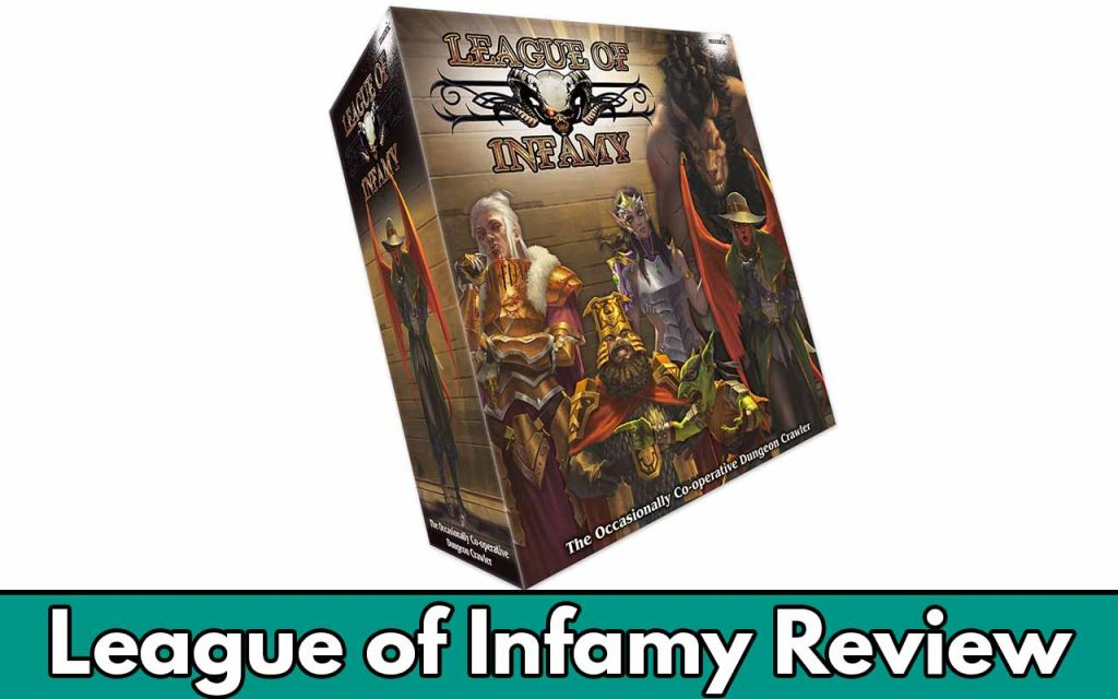 Feature image for me League of Infamy review