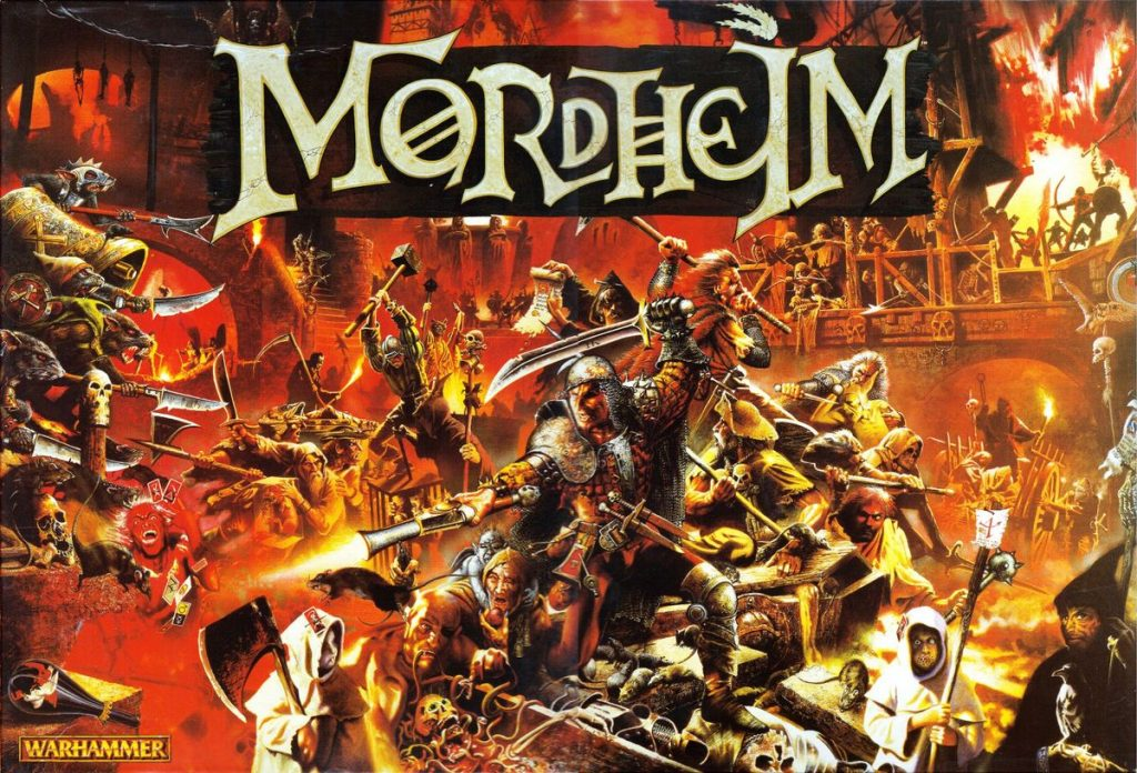 The box cover for Mordheim the original game