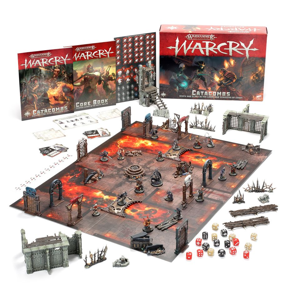 The contents of the Warcry Catacombs box