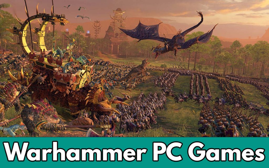 The feature image for our complete list of Warhammer PC Games